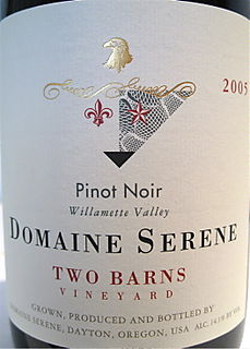 Port - CU Domaine Serene Two Barns label