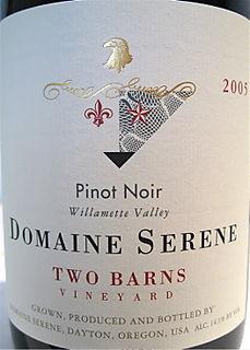 Port - CU Domaine Serene Two Barns label