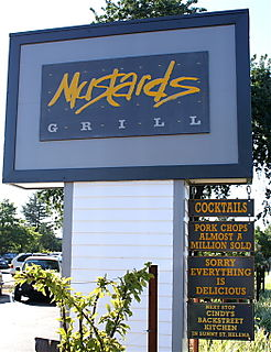 Mustards - sign out front