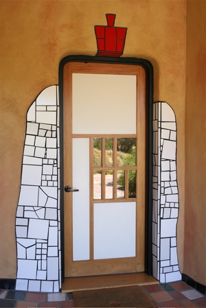 A- Quixote The winery's front door