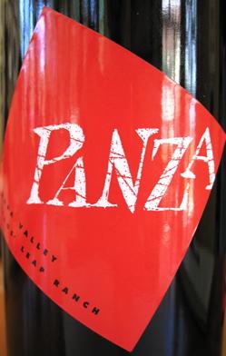 A-Quixote – Panza wine label CU