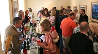 Acme - jostling for space at the wine stations
