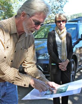 C - Tim Mondavi, map and Marcia Mondavi