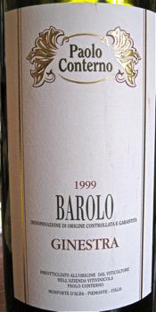 Awine - 1999 Paola Conterno Barolo Ginestra