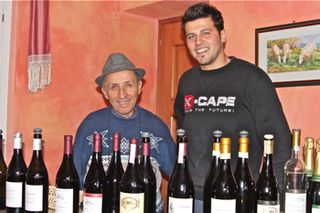 Awine – shot of Settimo (dad) and Flavio (son) Sobrero