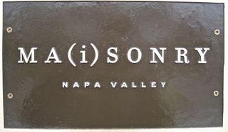 A - Maisonry sign