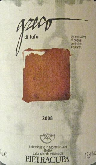 A - Greco di tufo label CU