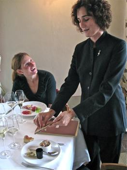 Malvira – Sylvie shaves truffles over egg dish
