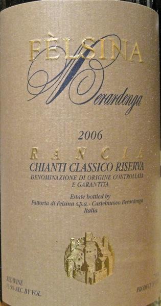 A - CU label 06 Felsina Rancia