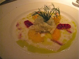 A - Carpaccio of halibut