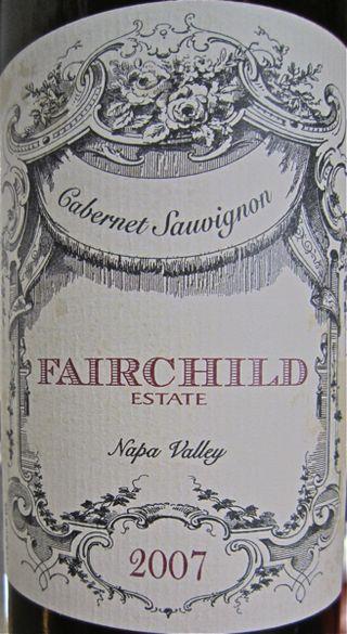 A-Fairchild – CU Napa Valley label