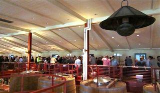 A-Oakville - Uper tier of the Mondavi Barrel Room