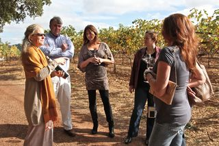 A - Chappellet - Candice leads tour in the vineyards