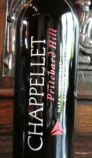 A – Chappellet – CU 2007 Pritchard Hill label