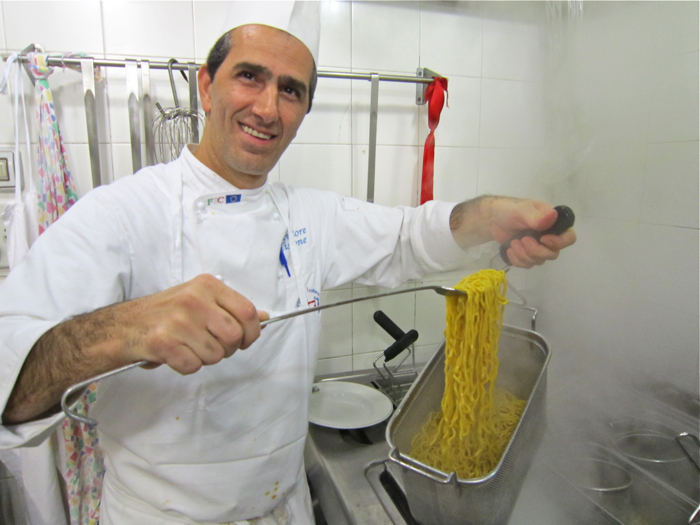 A – Rome – chef with tonnarrelli