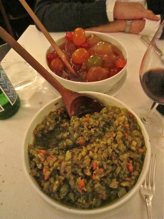 A – Rome – salsa verde and mustardo at Dal Bolognese