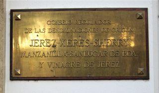 A – Jerez, Consejor Regulador plaque