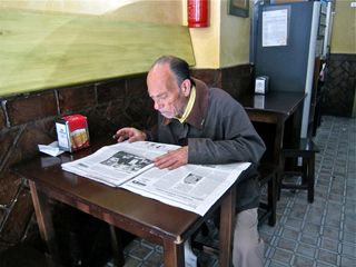 A - Jerez, man reading paper