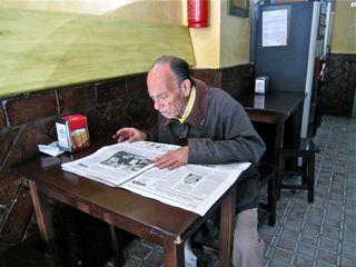 A - Jerez, man reading paper