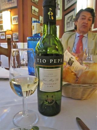 A - Jerez, close up, Tio Pepe bottle