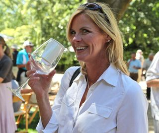 A - Spottswoode - CU Woman with Espresso in wine glass