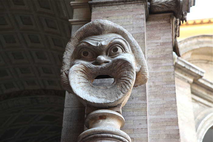 A – Rome – carved face