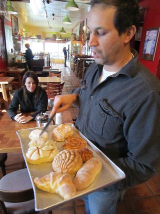 A - SF - Jaime Maldonado cuts pastries