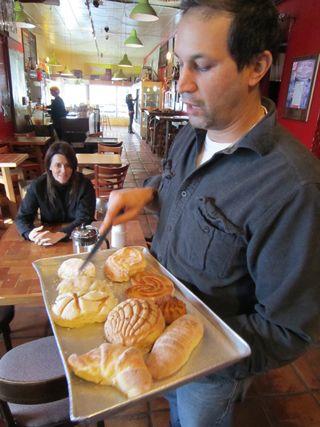 A - SF - Jaime Maldonado cuts pastries