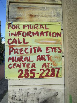 A - Murals - Sign for precitaeyes