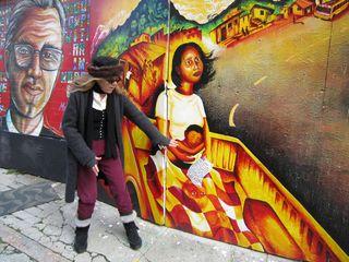 A - Murals - Patricia and colrful mural