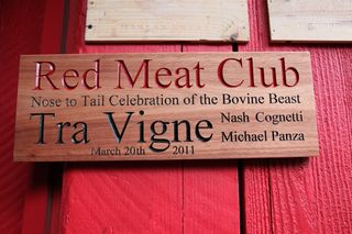 Red Meat Club Sign