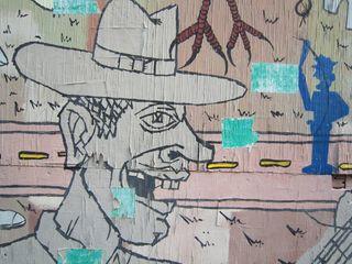 A - Murals - CU cartoon cowboy