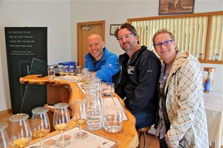 A - Scotland - my family in the tasting room at Macallan