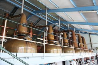 A - Scotland - Pot stills at Laphroaig