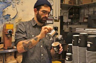 NY - making espresso