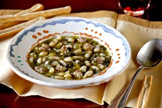 A - Tuscan - Kale, white bean & Sausage Soup