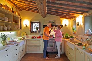 A - Tuscan - Ed & Frances in kitchen