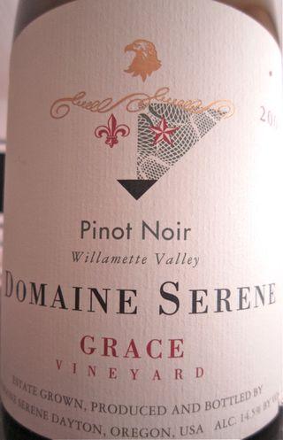 A – Domaine Serene – CU label