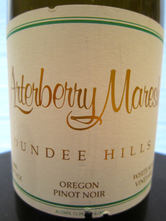A – Arterberry Maresh Pinot Noir, White Rose Vineyard – CU Label