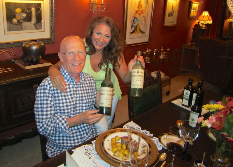 A - Jim, Patricia and the 2 old Ygay wines