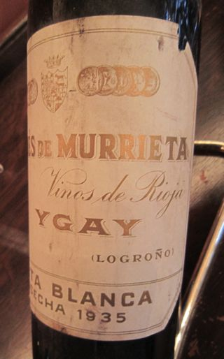A - 1935 Marques de Murrieta Ygay CU label