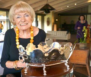 A - Margrit - end shot of Margrit & Trophy