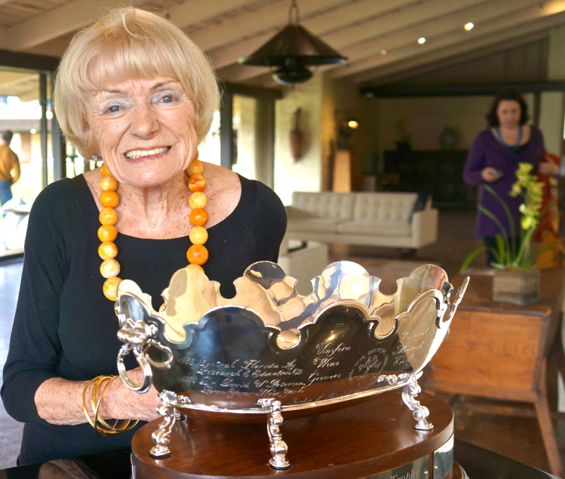 A - Margrit - end shot of Margrit & Trophy
