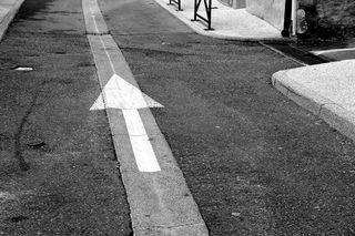 A - CDP - arrow on street