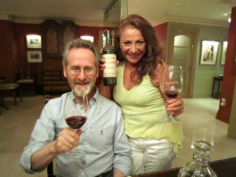 A - Barry and Patricia Brown, my dinner hosts