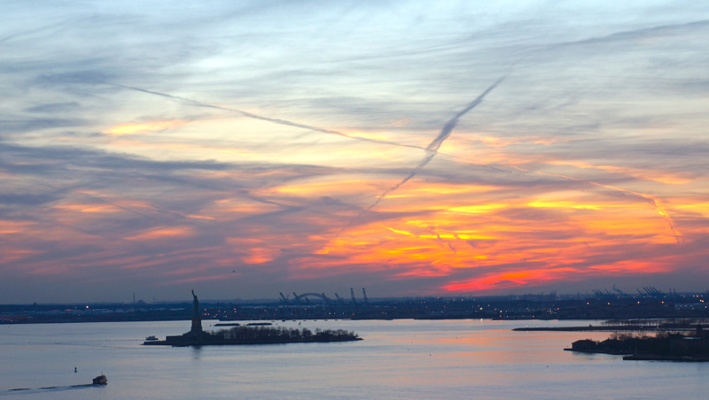 A - NYC - Harbor, Statue of LIberty