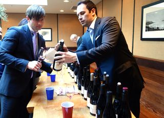 A - CDP - John Junguenet pours at tasting