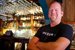 G&G - CU bartender Scott Beattie and his bar