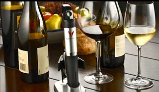 C - Coravin with wine glasses
