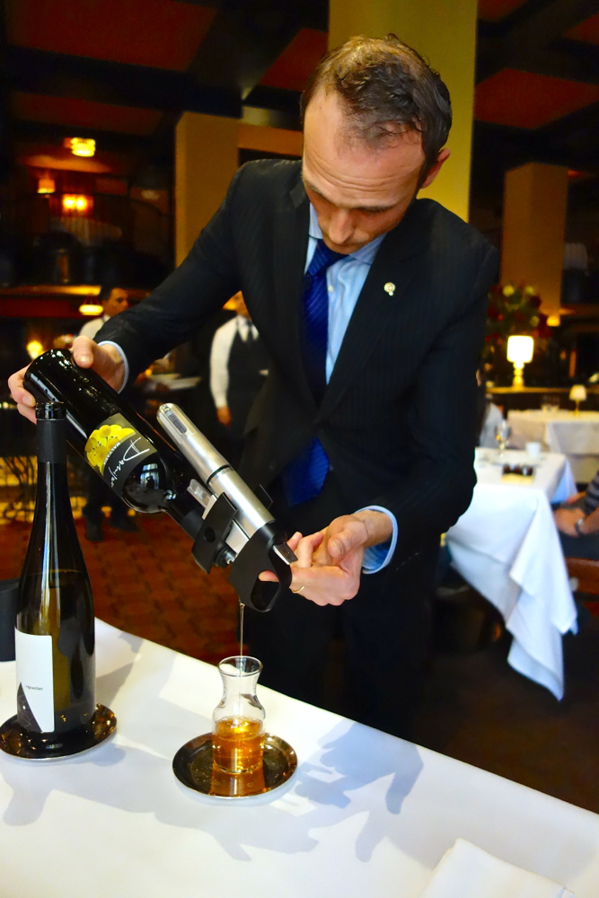 C - Massi pours with Coravin at Del Posto